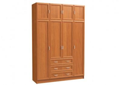 Шкаф 4х дверный с антресолью и 3 бол. ящ.